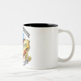 tatoo del corazón del autismo taza de café de dos colores