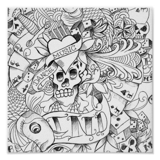 tatoo-drawing poster