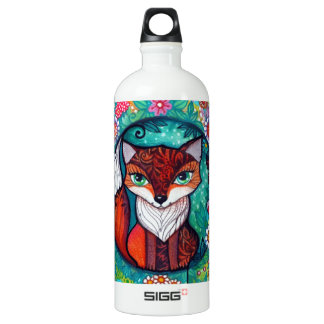 Tatoo fox aluminum water bottle