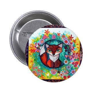 Tatoo fox pinback buttons