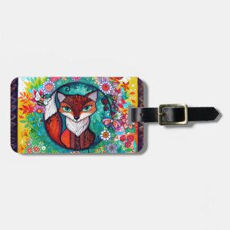 Tatoo fox luggage tag