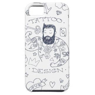 tatoo men design love hearts key art cartoon iPhone SE/5/5s case