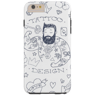 tatoo men design love hearts key art cartoon tough iPhone 6 plus case