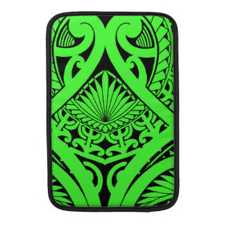 Tatoo polinesio con las hojas y la tortuga del funda para macbook air