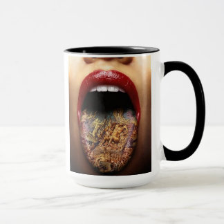 Tatoo tongue cup