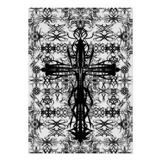 tatoo y cruz póster