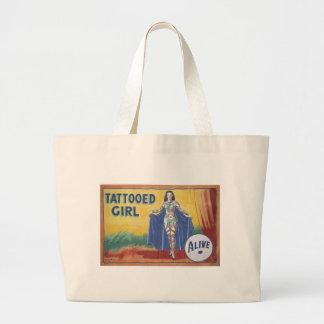 Tatooed Girl Large Tote Bag