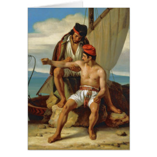 Tatooing a Sailor by Prevost Stationery Note Card