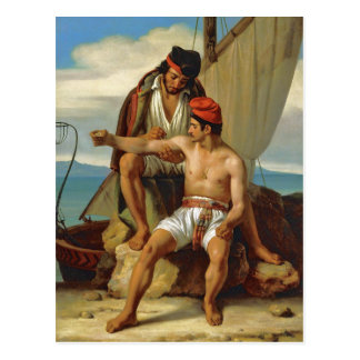 Tatooing a Sailor by Prevost Postcard