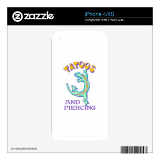 TATOOS AND PIERCING SKIN FOR iPhone 4S