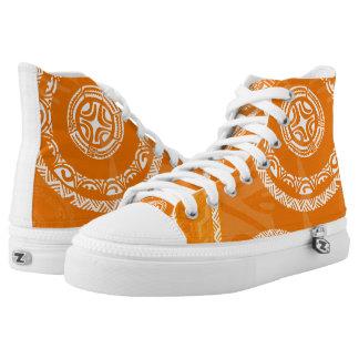 Tatou Fall Orange High-Top Sneakers