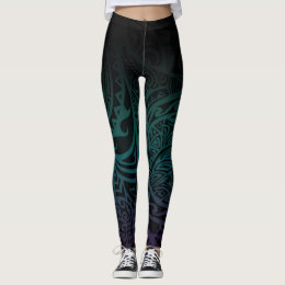 Tatou V - Midnight Teal & Purple Leggings