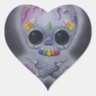 tats dulces pegatina en forma de corazón