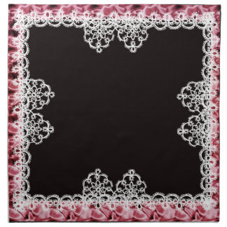 """""""tatted"""" doily lace 2 printed napkin"""
