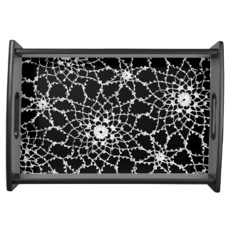 Tatted Lace Design Serving Tray