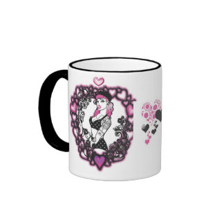 tattedup, corazones taza a dos colores