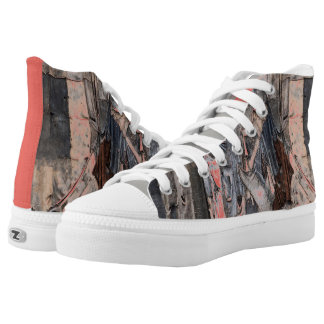 Tatter Chic High-Top Sneakers