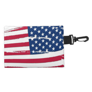 Tattered American Flag Accessories Bag