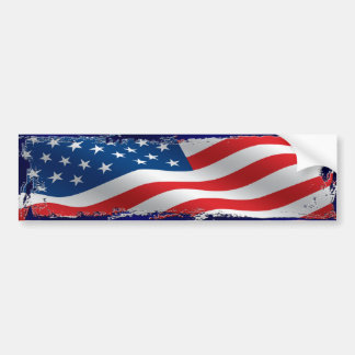 Tattered American Flag Bumper Sticker