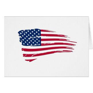 Tattered American Flag Greeting Card
