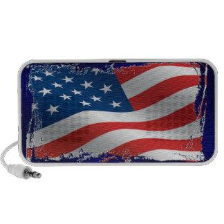 Tattered American Flag USB Speaker