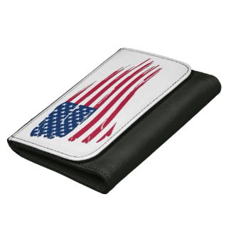 Tattered American Flag Wallet