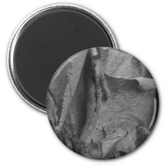 Tattered and torn 2 inch round magnet
