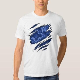 Tattered Blue Bandana Shirts