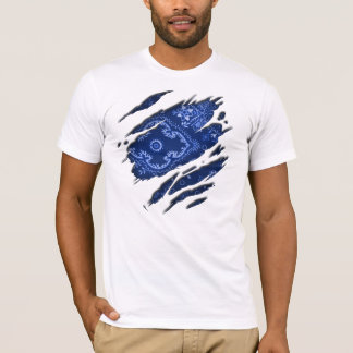 Tattered Blue Bandana T-Shirt