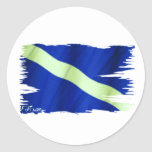 Tattered Dive Flag by FishTs.com Round Stickers