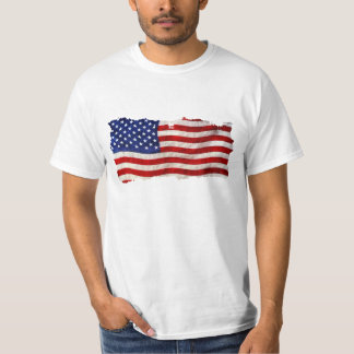 Tattered Grunge Patriotic USA Flag, United States T-Shirt