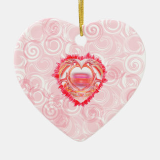 Tattered Hearts Christmas Ornament