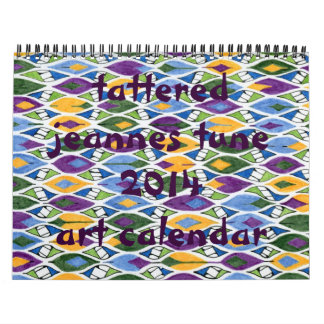tattered jeannes tune 2014 art calendar series #1