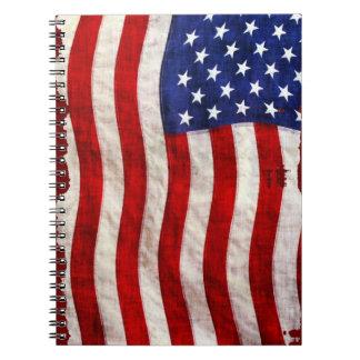Tattered Patriotic USA Flag, United States Journal