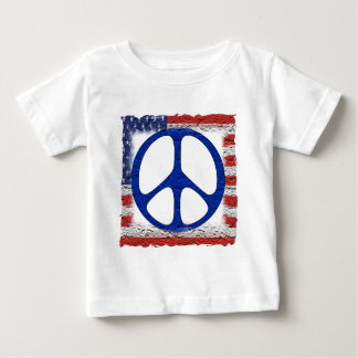 Tattered Peace Flag Baby T-Shirt