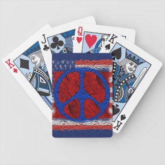 Tattered Peace Flag Bicycle Playing Cards