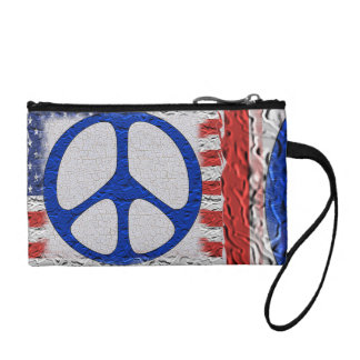 Tattered Peace Flag Change Purse