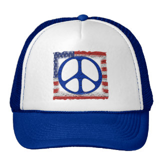 Tattered Peace Flag Hats