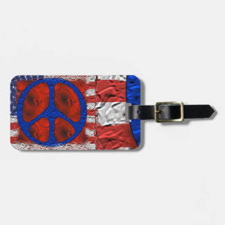 Tattered Peace Flag Luggage Tags