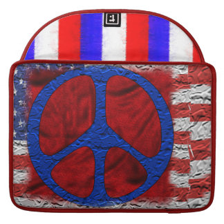 Tattered Peace Flag Sleeves For MacBook Pro