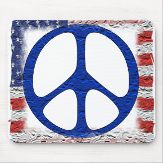Tattered Peace Flag Mouse Pad