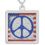 Tattered Peace Flag Necklaces