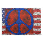 Tattered Peace Flag Place Mats