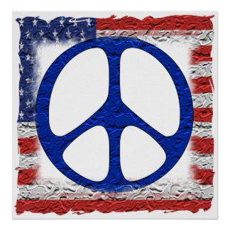 Tattered Peace Flag Posters