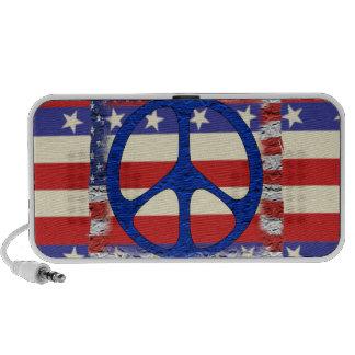 Tattered Peace Flag Travel Speakers
