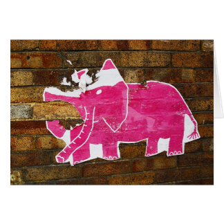 Tattered Pink Elephant Card