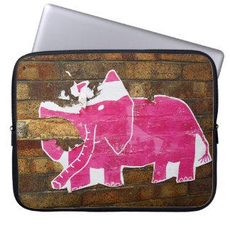 Tattered Pink Elephant Laptop Sleeve