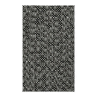 Tattered Silver Medieval Chainmail Armour Texture Canvas Print