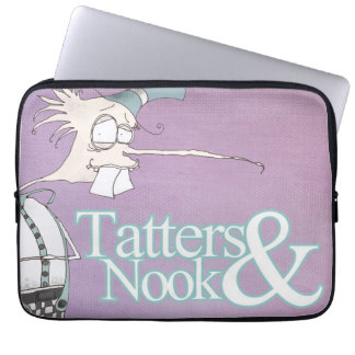 Tatters Nook Quirky Lilac Laptop sleeve