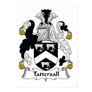 Tattersall Family Crest Postcard